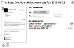 Fax an Die Ärzte Hot Action Records